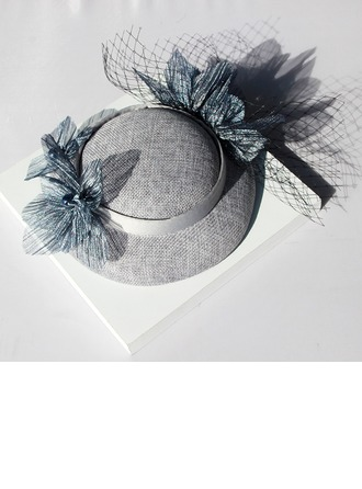 Ladies' Lovely Cotton With Flower Bowler/Cloche Hat