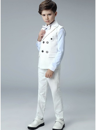 Boys 4 Pieces Elegant Ring Bearer Suits /Page Boy Suits With Shirt Vest Pants Bow Tie