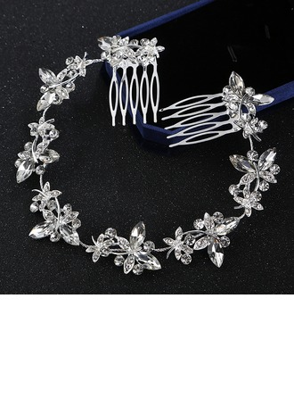 Ladies Beautiful Alloy Combs & Barrettes With Rhinestone (Sold in single piece)