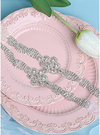 Beautiful Organza Sash With Rhinestones