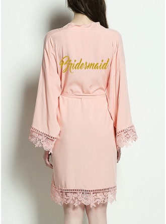 Bridesmaid Cotton Satin & Lace Robes