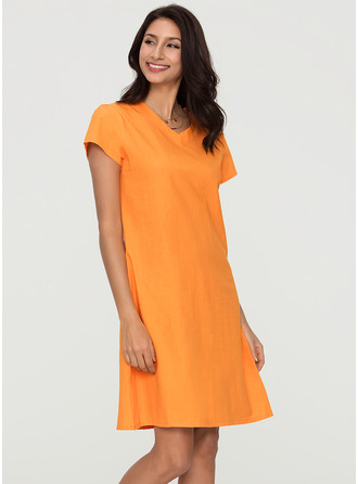 Cotton Knee Length Dress
