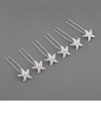 Glamourous Rhinestone/Alloy Hairpins(Set of 6)