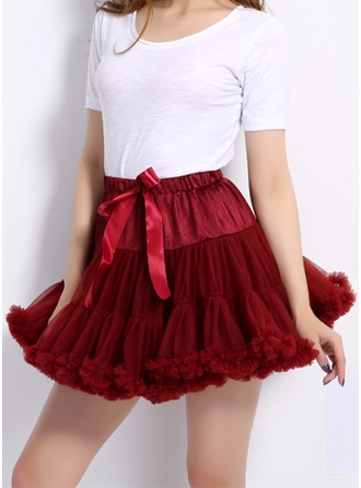 Nylon Mini A-Line Skirts