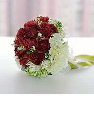 Charming Artificial Silk Bridal Bouquets -