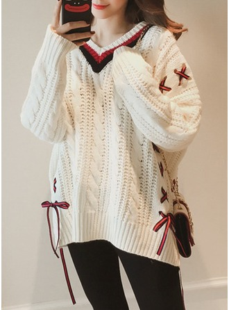 Cable-knit Cotton Round Neck Sweater Sweaters