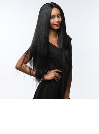 4A Non remy Yaki Straight Human Hair Full Lace Wigs 190g
