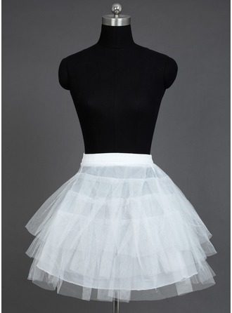 Women Nylon/Tulle Netting Short-length 3 Tiers Petticoats