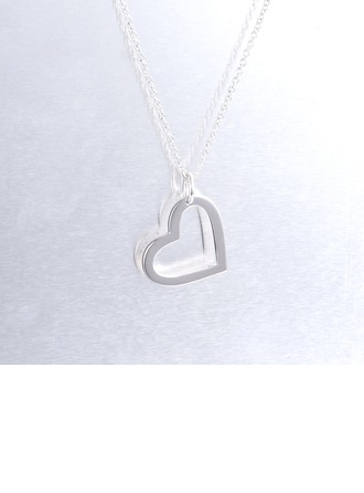 Personalized Couples' Sweet Heart 925 Sterling Silver Name/Engraved/Bar Necklaces For Bride/For Bridesmaid/For Mother/For Friends/For Couple
