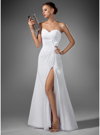Sweetheart Floor-Length Chiffon Evening Dress