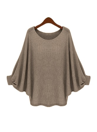 Plain Cotton Round Neck Sweater Kazak