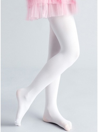 White Polyester Flower Girl Pantyhose