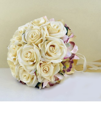 Romantic Artificial Silk Bridal Bouquets -