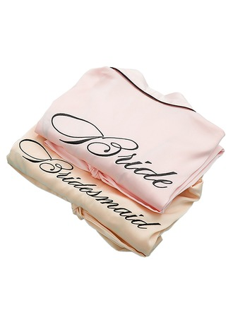 Personalized Bride Bridesmaid Cotton With Short Personalized Robes