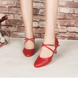 Women's Leatherette Heels Pumps Latin Modern Party Dance Shoes