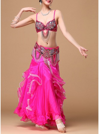 Women's Dancewear Cotton Polyester Chiffon Belly Dance Outfits