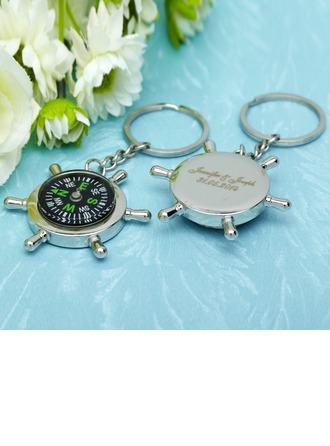 Personalized Compass Stainless Steel Keychains With Compass