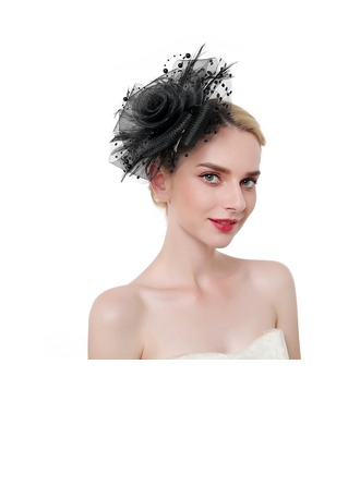 Ladies' Classic/Elegant/Eye-catching Feather/Net Yarn With Feather Fascinators/Kentucky Derby Hats