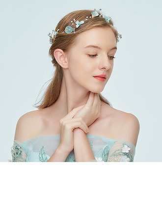 Ladies Exquisite Alloy Headbands With Rhinestone/Venetian Pearl (Sold in single piece)