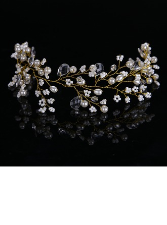 Ladies Classic Alloy/Imitation Pearls Headbands