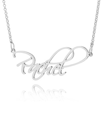 Custom Sterling Silver Vintage Name Necklace