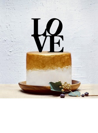 Sweet Love/Love Design Acrylic Cake Topper