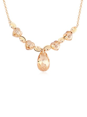 Ladies' Elegant Crystal Necklaces For Bride/For Bridesmaid/For Friends