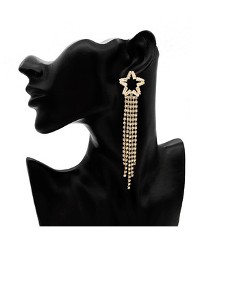 Signore Bella lega/Strass Strass Nrop Earrings Orecchini