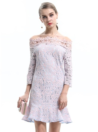 Polyester/Lace With Lace Dress