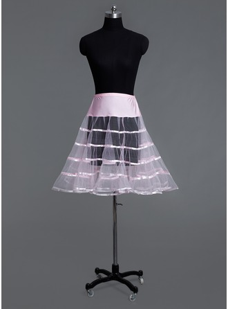 Women Tulle Netting/Lycra Knee-length 1 Tiers Petticoats