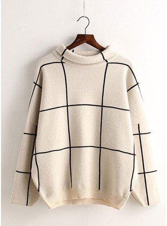 Cotton Blends Round Neck Sweater