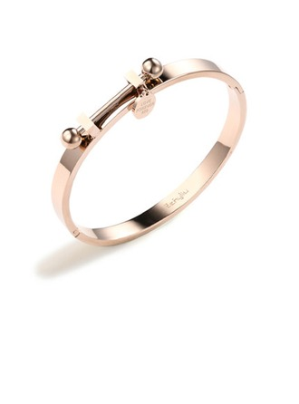 Personalized Ladies' Charming Gold Plated/Rose Gold Plated Engraved Bracelets For Bride/For Bridesmaid/For Couple