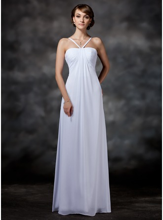 Empire Sweetheart Floor-Length Chiffon Wedding Dress With Ruffle