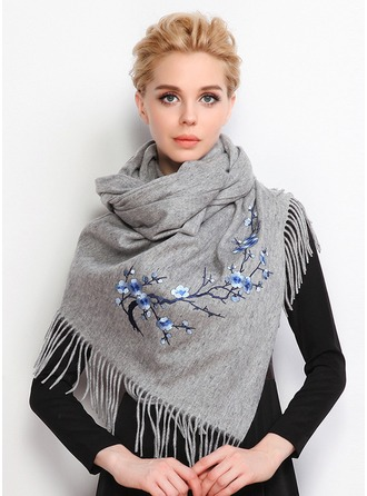 Floral Oversized/Shawls/fashion Wool/Polyester Scarf