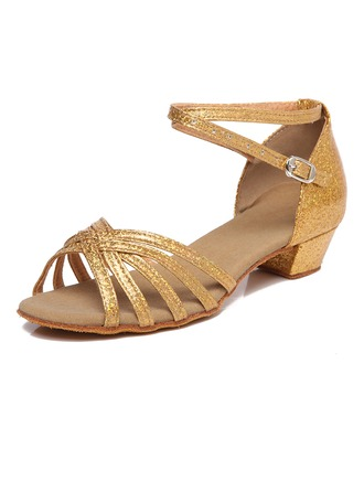 Kids' Leatherette Sandals Latin Dance Shoes