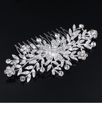 Ladies Exquisite Rhinestone/Alloy Combs & Barrettes