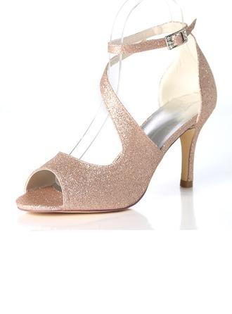 Dámské Šumivé Glitter Jehlový podpatek Lodičky Sandály S Na přezku