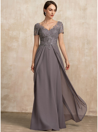 Chiffon Lace Mother of the Bride Dress