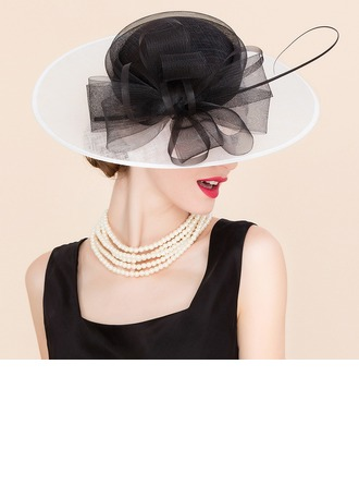 Ladies' Glamourous Cambric With Tulle Fascinators/Bowler/Cloche Hat