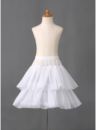 Girls Nylon/Tulle Netting Short-length 2 Tiers Petticoats