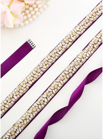 Elegante Satén Fajas con Diamantes de imitación/La perla de faux