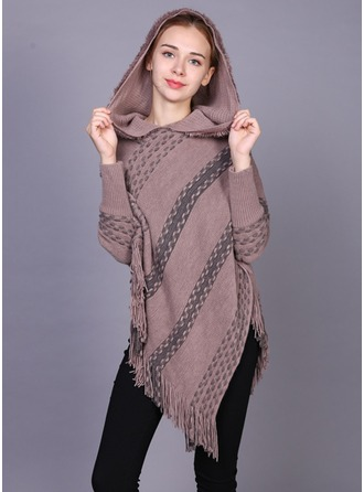 Retro/Vintage Oversized/Cold weather Artificial Wool Poncho