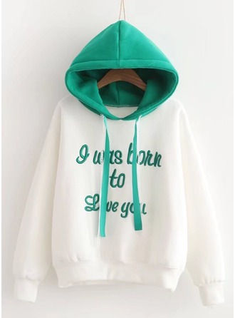 Embroidery Cotton Hoodie Sweatshirts