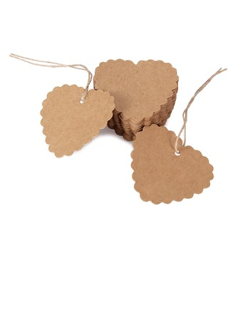 Heart Shaped Heart Shaped/Heart Design Kraft Paper Tags