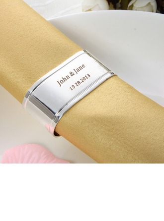 Personalized Simple Design Zinc Alloy Napkin Rings