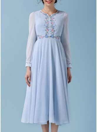 Polyester With Lace/Resin solid color Maxi Dress