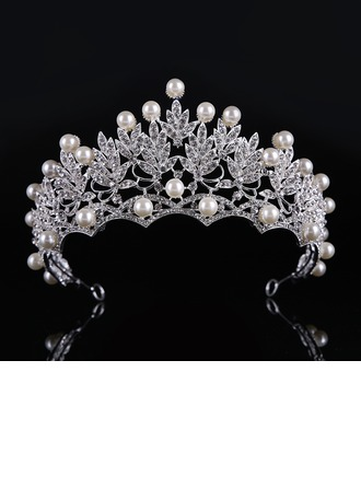 Ladies Classic Alloy/Imitation Pearls Tiaras