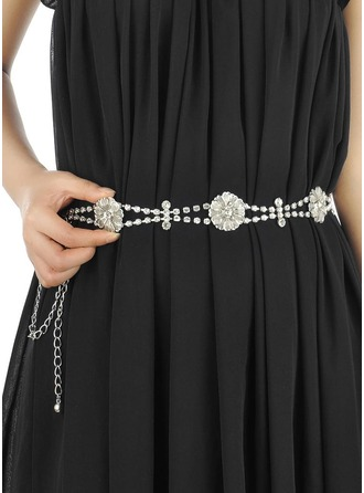 Stylish Alloy Belt With Rhinestones