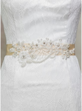 Exquisite Satin Sash With Lace