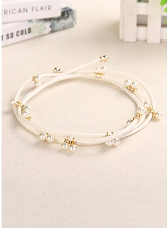 Fashional Leatherette Belt With Imitation Pearls